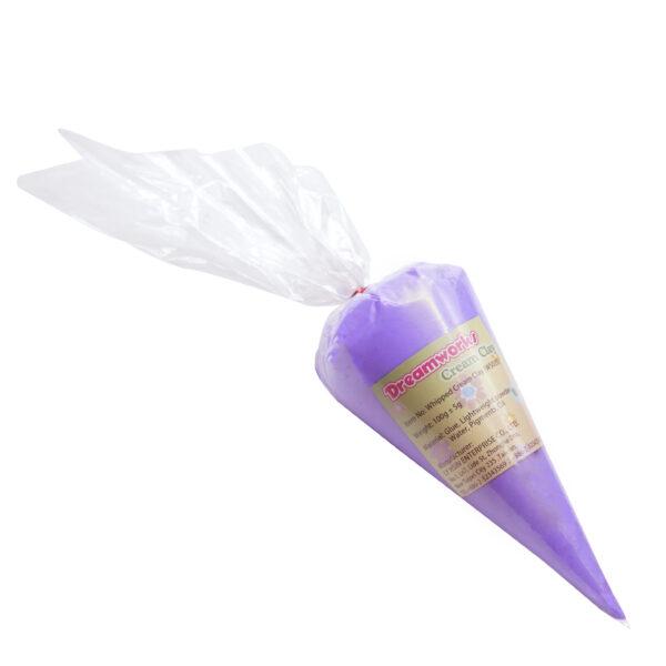 cream clay purple