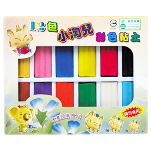 12 Colorful Oil Modeling Clay Set